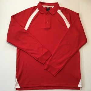 Nike Mens Dri Fit Large Long Sleeve Jersey Red